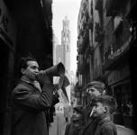 Продавец текстов песен на ул. Calle de la Platería, Барселона, 1952
